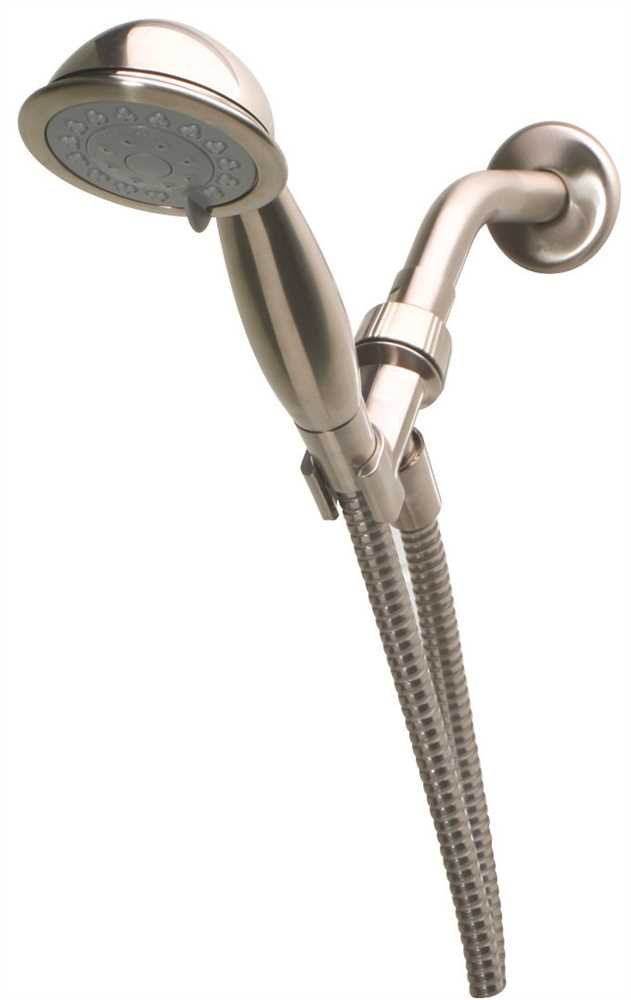 Premier Three-Setting Handheld Water Saving Showerhead, PVD Brushed Nickel