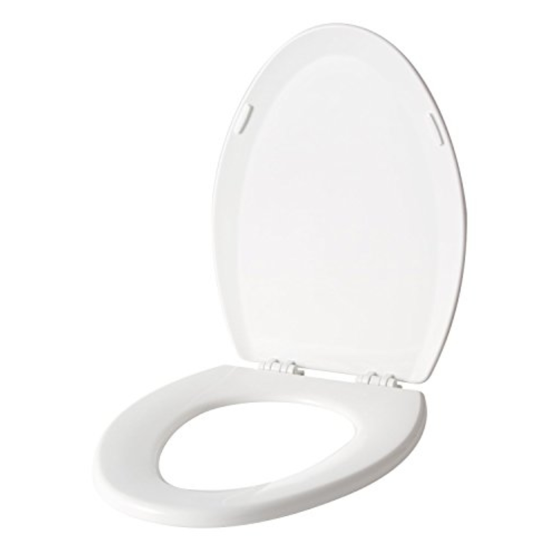 Premier Co-Injected Elongated Toilet Seat, Wood With Closed Front, White