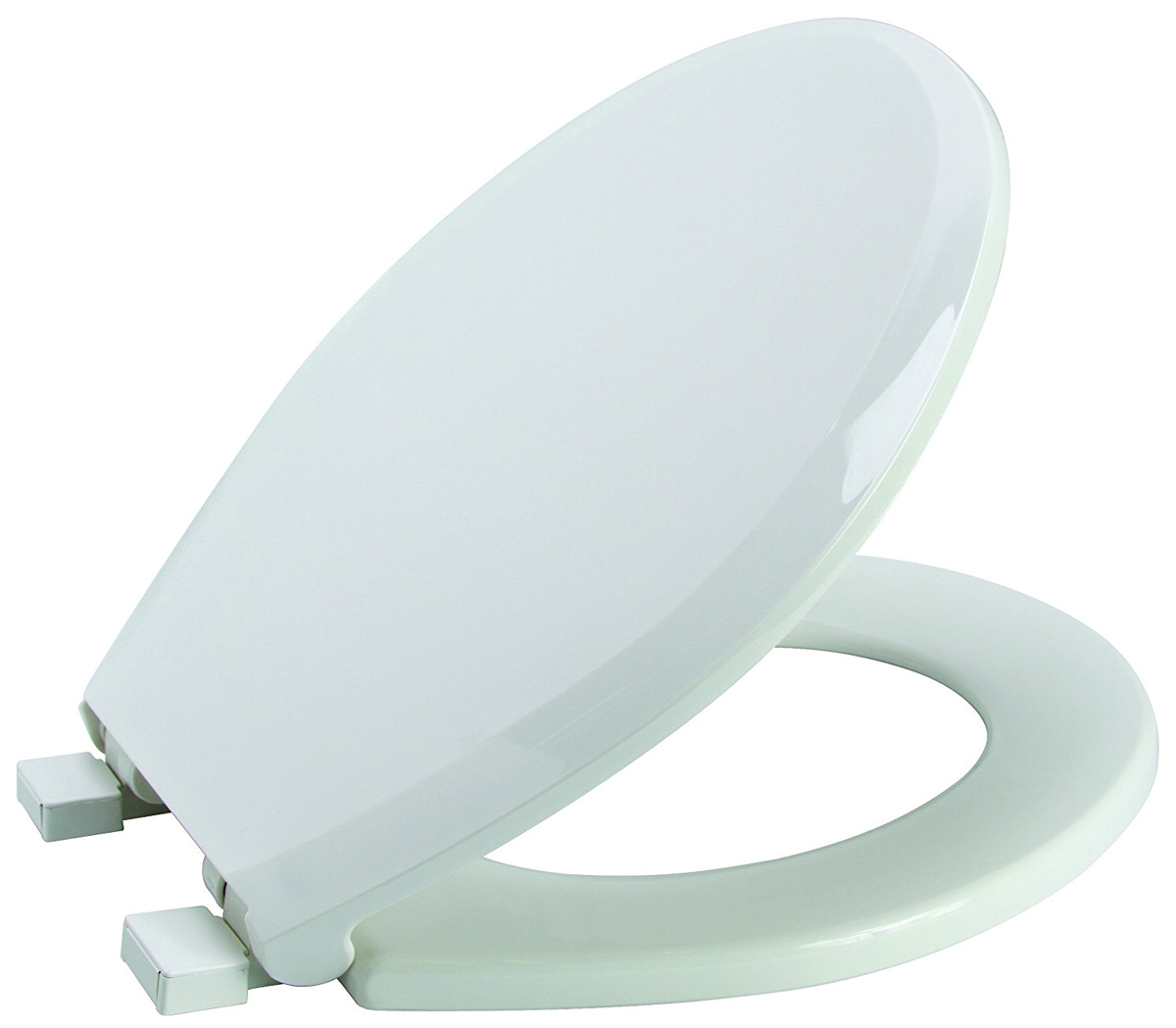 Premier Slow-Close Round Plastic Toilet Seat, White