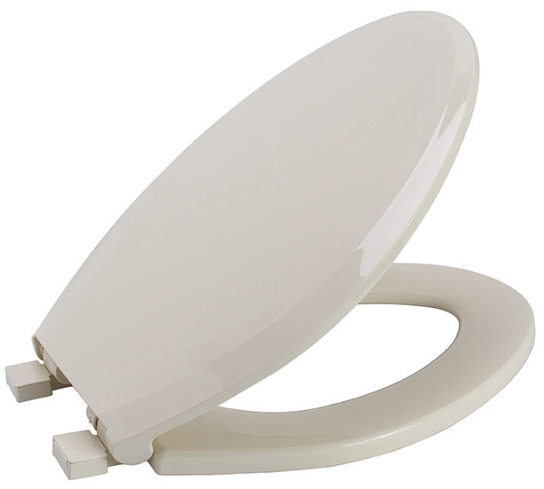 Premier Slow-Close Elongated Plastic Toilet Seat, Bone
