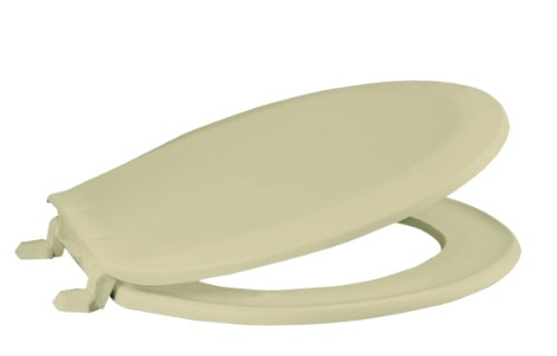 PREMIER ROUND CLOSED FRONT PLASTIC TOILET SEAT WITH LID, BONE