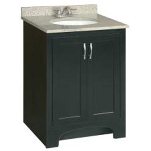 "24"" x 21"" Ventura Bathroom Vanity Cabinet, Ready To Assemble, 2 Door, Espresso"