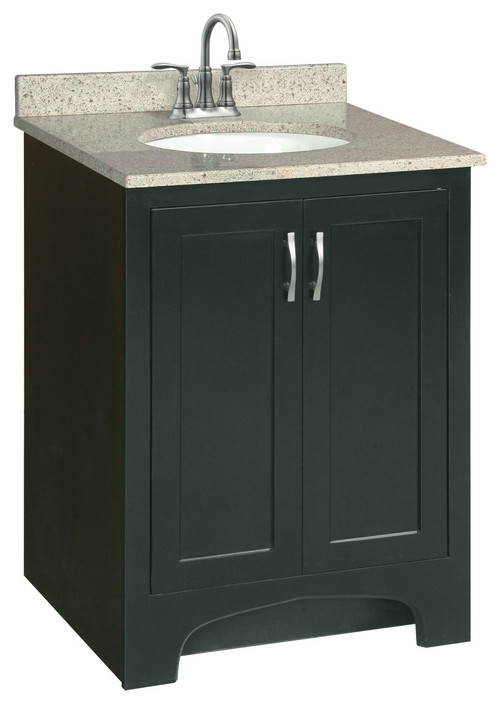 "30"" x 21"" Ventura Bathroom Vanity Cabinet, Ready To Assemble, 2 Door, Espresso"