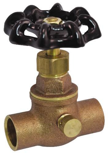 """COMPRESSION STOP AND WASTE 1/2"""" C X C BRONZE LEAD FREE"""