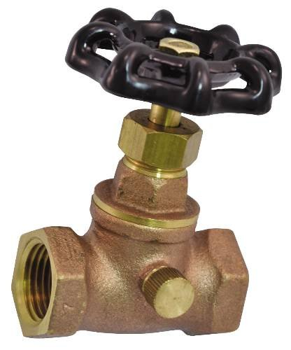 """COMPRESSION STOP AND WASTE 1/2"""" FIP BRONZE LEAD FREE"""