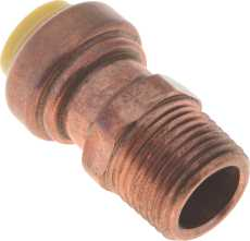 """PREMIER PUSH FIT MALE ADAPTER, 1"""" X 3/4"""" MPT., LEAD FREE"""