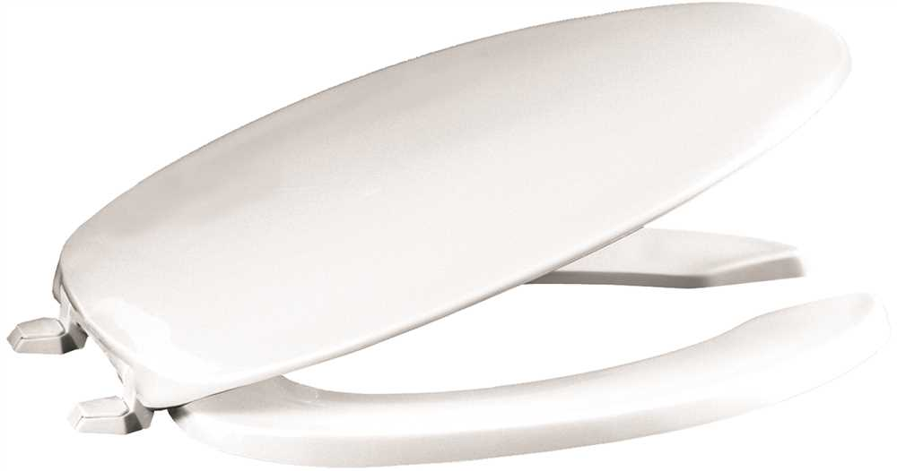PREMIER HEAVY-DUTY ELONGATED OPEN FRONT PLASTIC TOILET SEAT WITH LID, WHITE