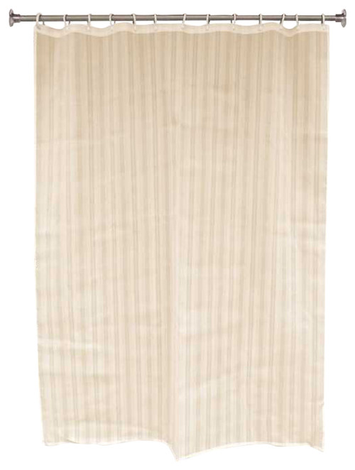 PREMIER CLASSIC STRIPE SHOWER CURTAIN, 6 FT. X 6 FT., CHAMPAGNE