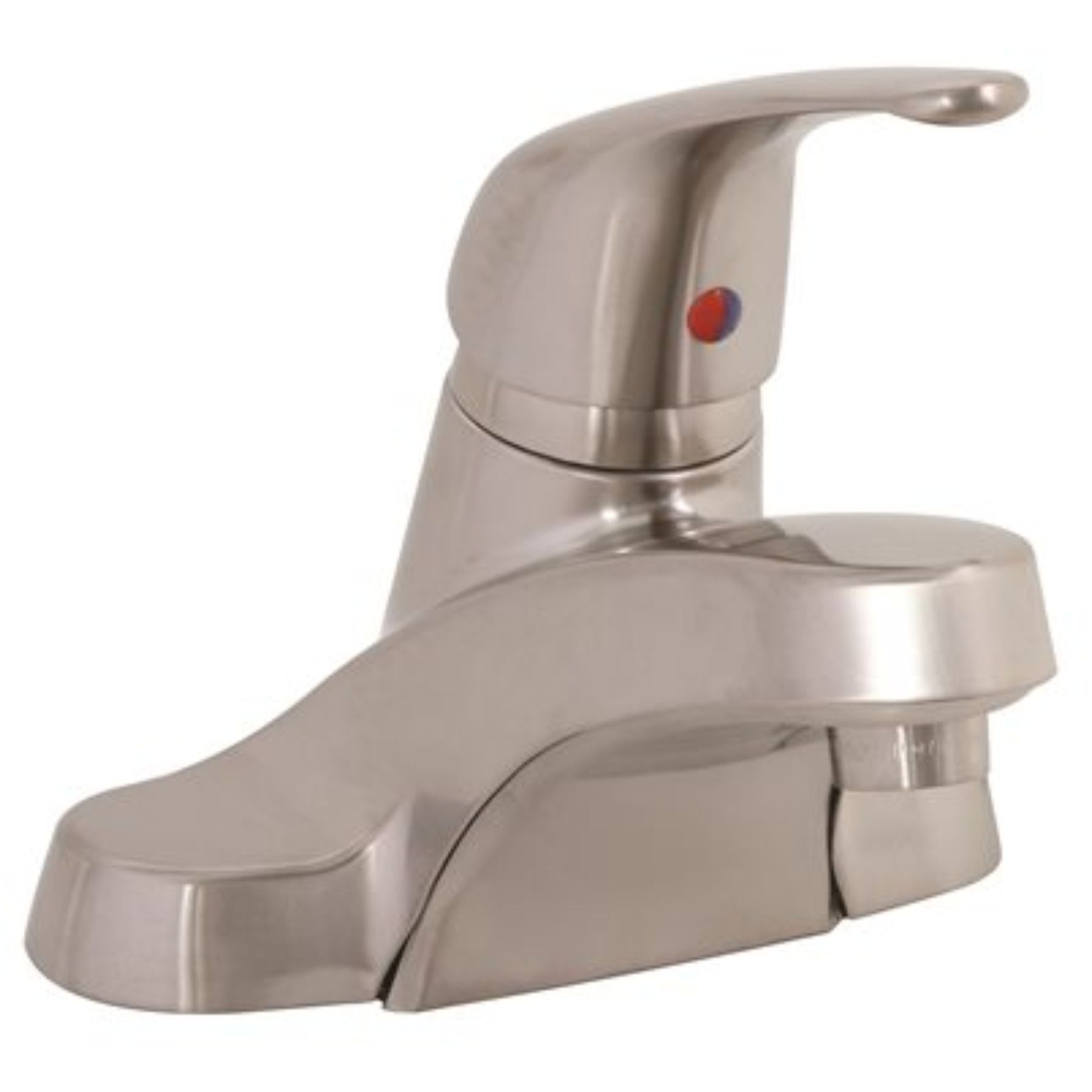 BATHROOM FAUCET SINGLE LEVER PVD BRUSHED NICKEL BRASS POP UP
