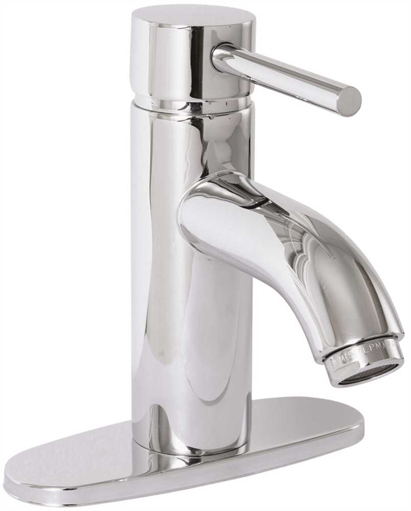ESSEN BATHROOM VESSEL SINK FILLER FAUCET WITH SINGLE METAL LEVER HANDLE AND BRASS POP UP, CHROME