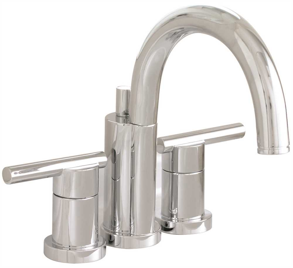 ESSEN� MINI WIDESPREAD BATHROOM FAUCET WITH METAL LEVER HANDLES, 4 IN. CENTERS, AND BRASS POP UP, CHROME, LEAD FREE