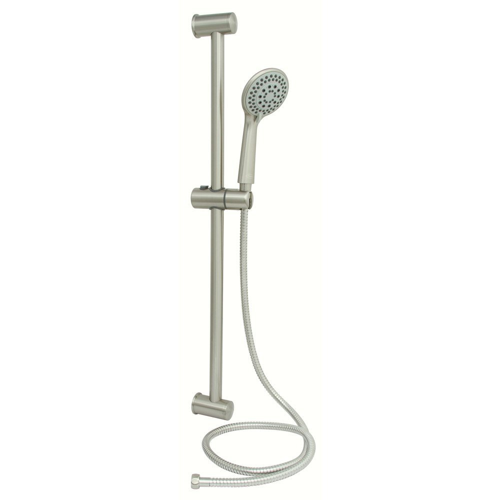 PREMIER� SLIDING BAR SHOWER SET WITH 5-FUNCTION HANDHELD SHOWER AND 60 IN. STAINLESS STEEL HOSE, BRUSHED NICKEL
