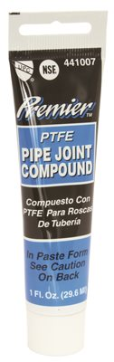 PREMIER PREMIUM-GRADE TEFLON ALL-PURPOSE PIPE JOINT COMPOUND, 1 OZ. TUBE