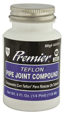 PREMIER PREMIUM-GRADE TEFLON ALL-PURPOSE PIPE JOINT COMPOUND, 4 OZ. BOTTLE