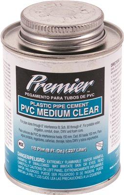 PREMIER CEMENT PVC CLEAR 1/4 PINT
