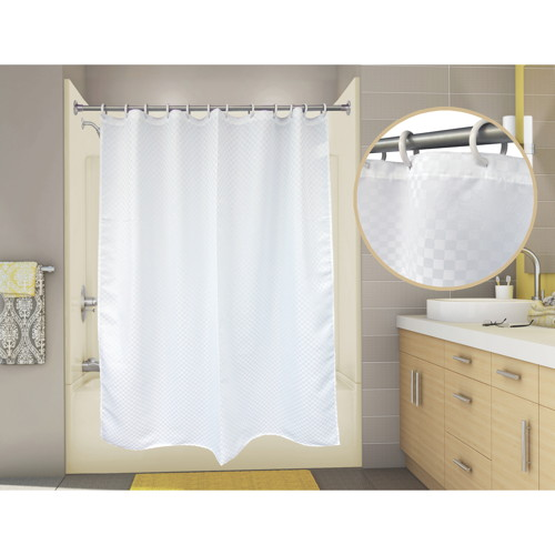 PREMIER SATIN BOX SHOWER CURTAIN, 6 FT. X 6 FT., WHITE
