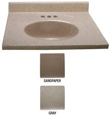 PREMIER� BATHROOM VANITY TOP, CULTURED GRANITE, SAND, 49 IN. X 19 IN.