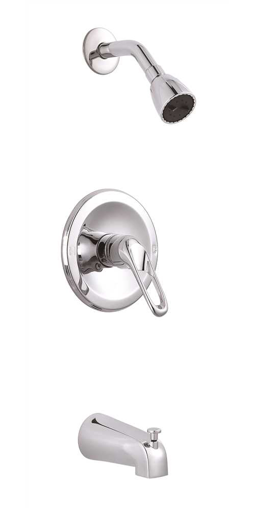 PREMIER� BAYVIEW� SINGLE-HANDLE TUB & SHOWER FAUCET WITH OPTIONAL LOOP HANDLE, CHROME