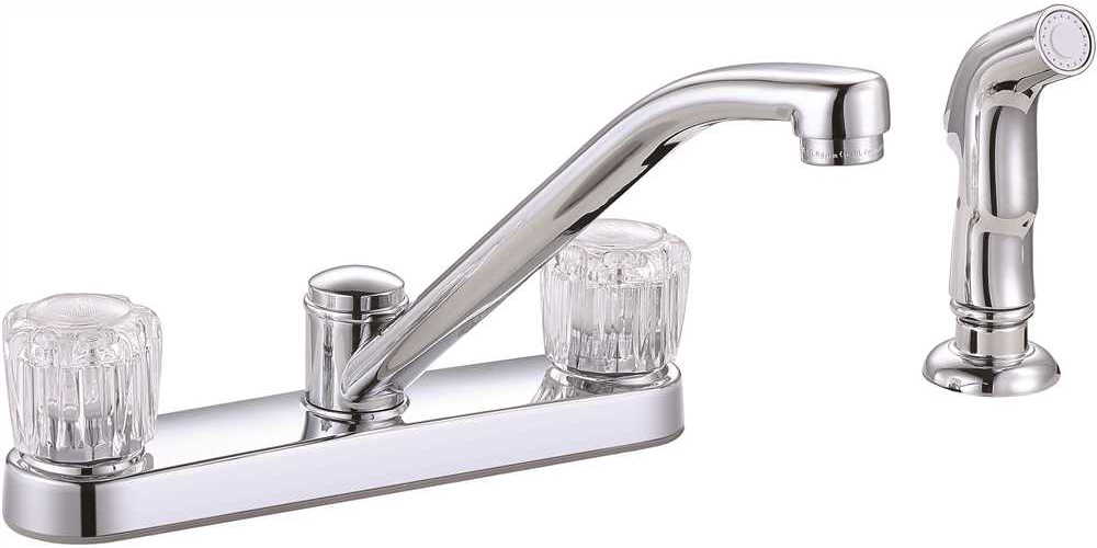 PREMIER� BAYVIEW� TWO-HANDLE KITCHEN FAUCET WITH SIDE SPRAY, CHROME