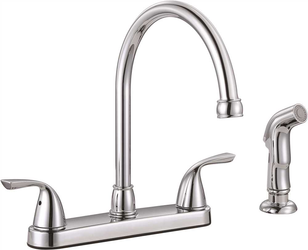 PREMIER� SANIBEL� TWO-HANDLE KITCHEN FAUCET WITH SIDE SPRAY, CHROME