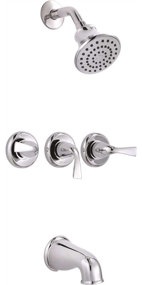 PREMIER� SANIBEL� THREE-HANDLE TUB & SHOWER FAUCET, CHROME