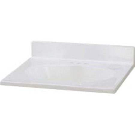 PREMIER� VANITY TOP CULTURED MARBLE, WHITE SWIRL, 25 IN. X 22 IN.