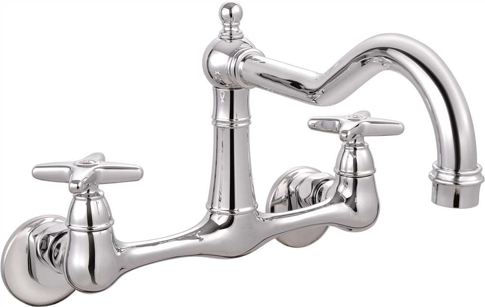 PREMIER� BAYVIEW� TWO-HANDLE WALL-MOUNT FAUCET, CHROME