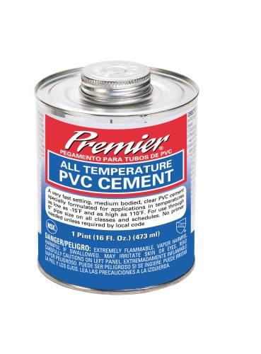 PREMIER CEMENT PVC ALL TEMP CLEAR PINT