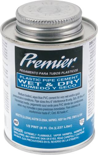PREMIER WET AND DRY CEMENT 1/2 PINT