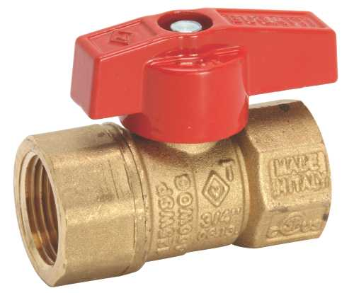 PREMIER GAS APPLIANCE BALL VALVE, LEVER HANDLE, 1/2 IN. FIP