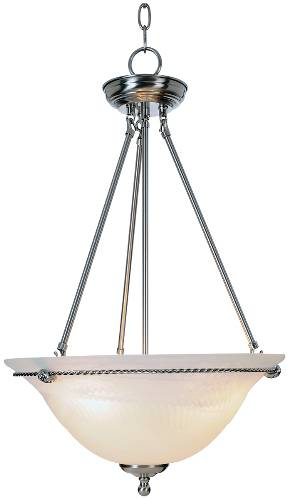 TORINO� PENDANT CEILING FIXTURE, MAXIMUM THREE 60 WATT INCANDESCENT MEDIUM BASE BULBS, 16 IN., BRUSHED NICKEL