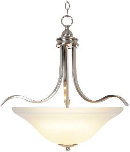 SANIBEL� PENDANT CEILING FIXTURE, MAXIMUM FOUR 60 WATT INCANDESCENT MEDIUM BASE BULBS, 21 IN., BRUSHED NICKEL