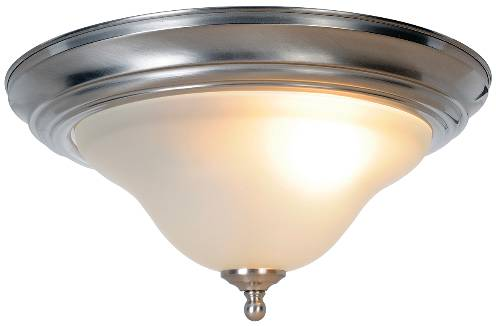 WELLINGTON� FLUSH MOUNT CEILING FIXTURE WITH ONE 60 WATT INCANDESCENT MEDIUM BASE BULB, 13-3/4 IN., BRUSHED NICKEL