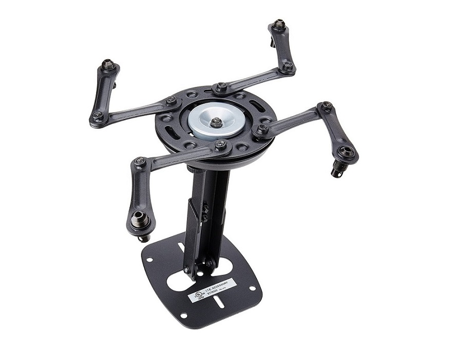 Premier Mounts Universal Projector Mount With Adjustable Channel (Dark Gray) PBL-UMS