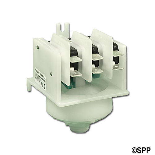 Stepper Switch, Air, Presair, 21A, Green Cam, 4-Function, Center Spout