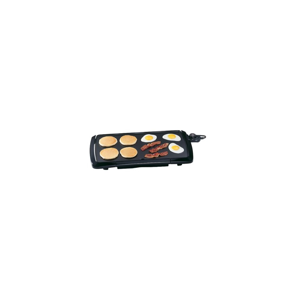 Presto 10.5x20-inch Cool Touch Griddle, Black
