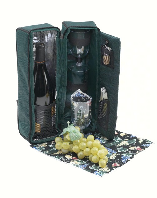 Two Person Wine Tote - Green