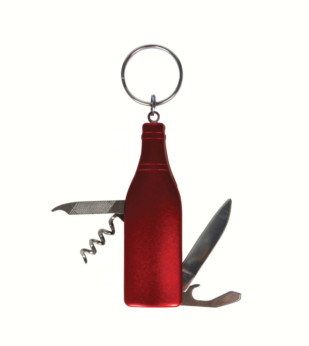 Red Wine Bottle Multi-Tool Key Chain