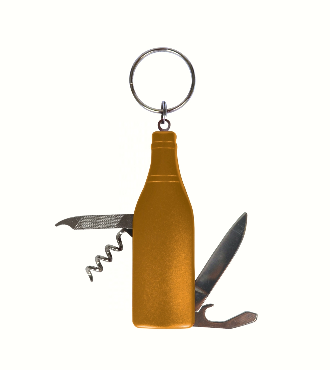 Gold Wine Bottle Multi-Tool Key Chain