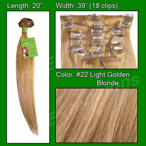 #22 Medium Blonde - 20 inch Remi