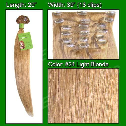 #24 Light Blonde - 20 inch Remi