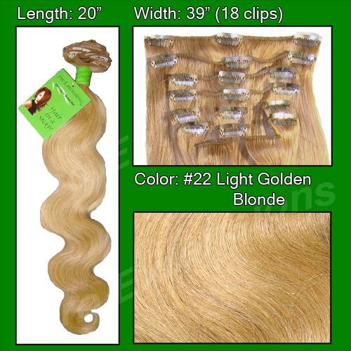 #22 Medium Blonde - 20 inch Body Wave