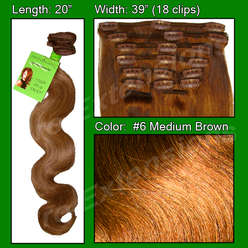 #6 Medium Brown - 20 inch Body Wave