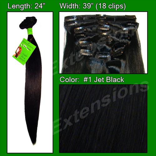 #1 Jet Black - 24 inch REMI