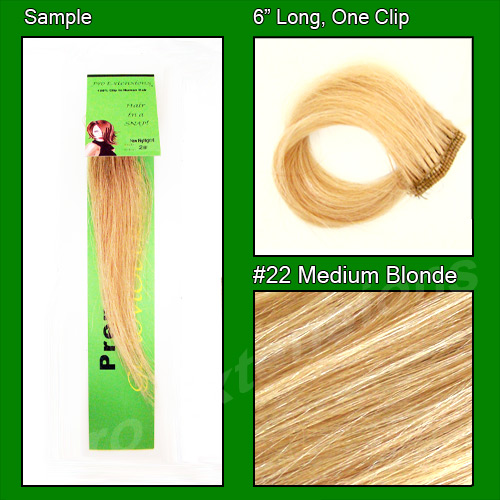 #22 Medium Blonde Sample