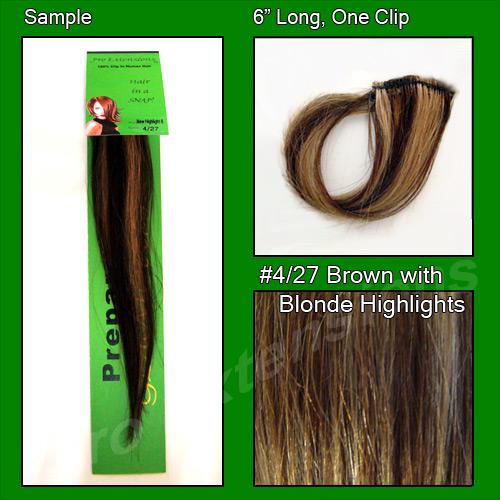 #4/27 Chocolate Brown w/ Blonde Highlights Sample