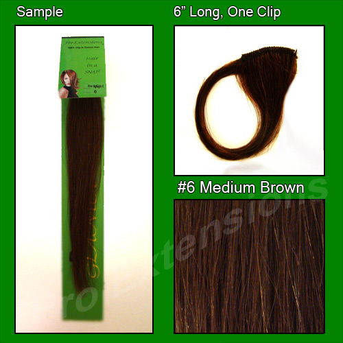 #6 Medium Brown Sample