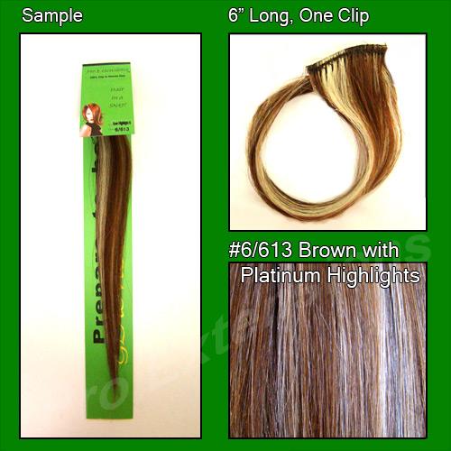 #6/613 Brown w/ Platinum Highlights Sample