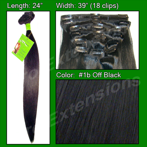 #1b Off Black - 24 inch