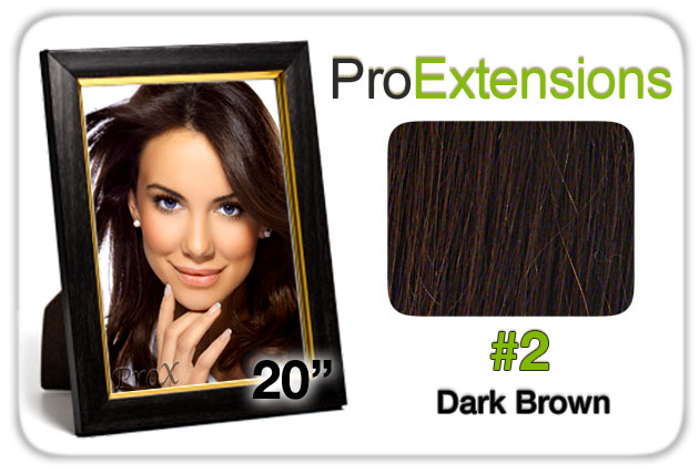"Pro Lace 20"", #2 Dark Brown"